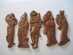 Wooden Buddha Asian Wall Plaques / Statues