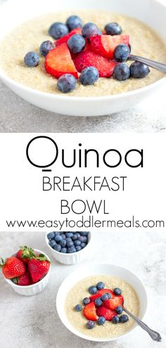 Quinoa Breakfast Bowls - Protein and Fiber Rich Meal