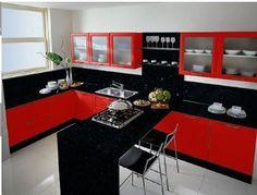 Cocinas Integrales Modernas Rojas Pin itmis ideas