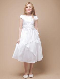 Cascading Taffeta Communion Dress - First Communion Dresses