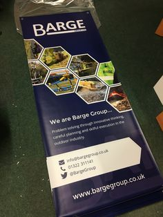 We have recently designed and produced some outdoor roller banners for Barge Group, an outdoor multi-service provider, based in Kent.