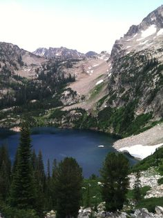 Iron Creek to Sawtooth Lake, Stanley, Idaho. This is Alpine Lake along the way. 5 miles in, 5 miles out.