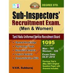 Sub-Inspectors Recruitment Exam for men and women