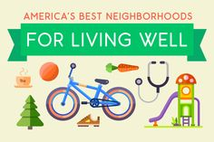 Today Trulia released the new Live Well maps to help home seekers to find the best places to live for staying active and healthy. Using data that power these maps, we've discovered that neighborhoods in Charlottesville, Va., San Francisco, and San Diego top the list for living a healthy lifestyle.