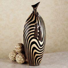 Zebra Stripe Table Vase