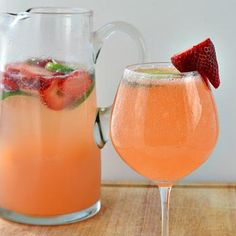 Strawberry and Lime Moscato Punch