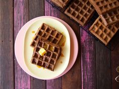 This Paleo Chocolate Waffle recipe is so easy, so delicious! You can also make it in to an epic paleo chocolate waffle cake. That's fun!