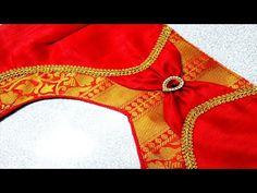 designer model blouse gala back neck design / cutting and stitching back neck / blouse designs - YouTube Chudithar Neck Designs, Latest Blouse Neck Designs, Saree Blouse Neck Designs, Neckline Designs, Fancy Blouse Designs, Traditional Blouse Designs, Patch Work Blouse Designs, Blouse Designs Catalogue, Designer Blouse Patterns