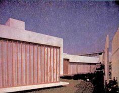 Detalle de la Entrada, casa de Coyoacán, Cerro Dos Conejos esq. Cerro El Vigilante, Romero de Terreros, Coyoacán, México, DF 1964   Arq. Fernando Jackson -  Detail of the entrance, House in Coyoacan, Mexico City 1964