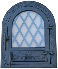 Nagy méretű kandalló ajtó