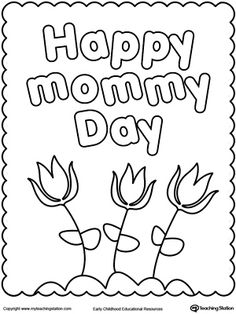 happy mothers day coloring page - Kids Coloring Activities