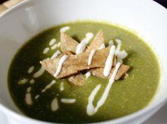 Crema De Chile Poblano (Roasted Chile Poblano Soup)