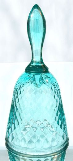 Fenton Diamond Optic Bell in Robin's Egg Blue