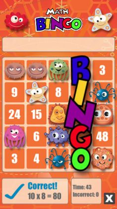 Math Bingo: One of our favorite math apps for elementary-aged kids.
