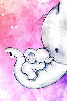 Elefant Illustration niedlich – Number One Drawing Cute Animal Drawings, Pencil Art Drawings, Art Drawings Sketches, Sweet Drawings, Fun Easy Drawings, Cute Baby Drawings, Easy Disney Drawings, I Love You Drawings, Easy Drawings For Beginners