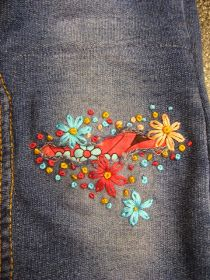 I am having too much fun! Seriously. I love denim. And I have always been a mender of jeans. Lots of jeans. Living with f...