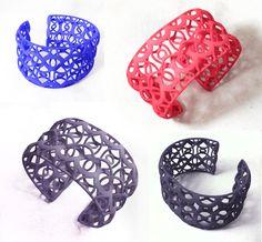Designerica Laced Arches Cuff #3dPrintedJewelry
