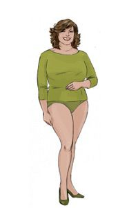 inverted triangle body shape female - Google Search