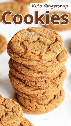 Keto Gingersnap Cookies - With the holidays coming up, I thought it would be a good idea to start working on some holiday inspired recipes. My first cookie 8 Easy Keto Diet Friendly Dessert Ideas Keto Desserts, Dessert Recipes, Keto Snacks, Dessert Ideas, Keto Foods, Stevia Desserts, Paleo Diet, Keto Sweet Snacks, Low Sugar Snacks