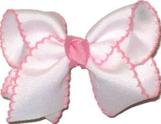 MS-158S Toddler White and Pink Moonstitch, $5.95