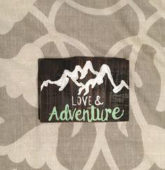 Love & Adventure Block by MyGoldenAarow on Etsy