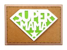 Handgemachte Muttertagskarte 'Supermama' höchst originell | Handgefertigte Grußkarte