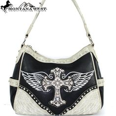 Amazon.com: Montana West Western Cowgirl Western Rhinestone Gemstone Studded Cross Embroidered Eagle Wing Color Block Handbag Purse Hobo Tote Satchel in Black: Clothing $43.99