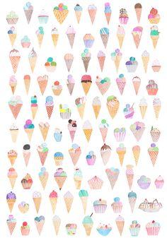 Ice Cream Cone iPhone 5 Wallpaper