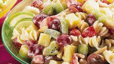Fruity Pasta Salad recipe and reviews - Open up salad pasta-bilities!  Add fruit and a citrus-yogurt dressing.