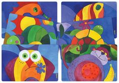 Color:Abstract Zoo Designer Placemats, Everyday use, Easy to Clean, Indoor/Outdoor / Set of Our designer placemats are a great way to put some fu Gifts For Kids, Presents, Kids Rugs, Abstract, Create, Poster, Painting, Design, Products