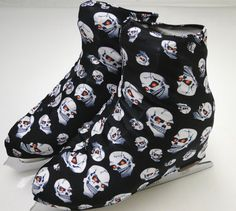Skull Skate Boot Covers / Figure Skating / Ice Skating /  Roller Skating Dare to be different at the rink with skull skate boot covers.