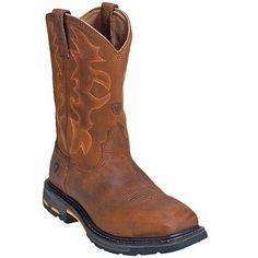 Ariat Boots Men's Steel Toe EH Brown Square Toe Cowboy Work Boots 10007044,    #Ariat,    #10007044,    #Men'sWorkBoots