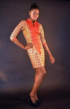 OBIANUJU AFRICAN Print Dress by AFRICANISEDSHOP on Etsy, £70.00