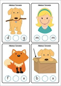 Worksheet Middle Sound Worksheets circles change 3 and alphabet on pinterest