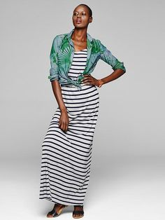 Stripe cami maxi dress Product Image