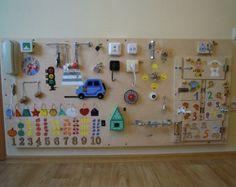 Busy Board Activity Board Sensory Board Montessori by TheRusWood