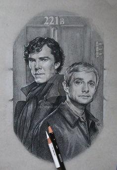 Sherlock and Watson by razberis
