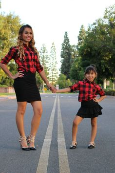 Red and black Plaid shirt Mommy and me outfits by LittleMiaBella Black Plaid Shirt, Red And Black Flannel, Red Shirt, Mother Daughter Pictures, Mother Daughter Fashion, Mommy And Me Outfits, Family Outfits, Christmas Pictures Outfits, Mommy And Me Photo Shoot