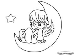 103 Best Moon And Stars Images Coloring Pages Colouring Pages