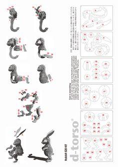 Rabbit520_natural | ディートルソ ペーパークラフト by アキ工作社 | 動物のカタチ///ミドルサイズ///兎段(うさだん)
