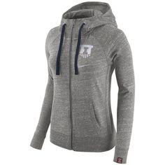 Nike Women's Illinois Fighting Illini Vintage Full-Zip Hoodie ($70) ❤ liked on Polyvore featuring tops, hoodies, nike hoodies, full zip hooded sweatshirt, vintage hoodies, hooded sweatshirt and zip hoodie