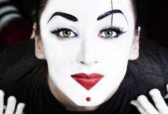 ART...PIERROT CLOWNS AND MORE on Pinterest | Clowns, Mime Makeup ...