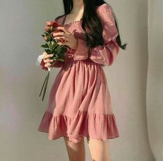 Cute Date Outfits, First Date Outfits, Summer Dress Outfits, Pretty Outfits, Beautiful Outfits, Korean Fashion Dress, Korean Fashion Summer, Korean Dress, Fashion Dresses