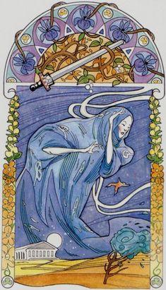 L'as d'épées - Tarot art nouveau par Antonella Castelli