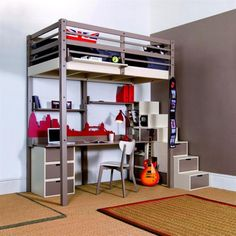 Very small bedroom design can have a lot of variations, even when made b yourself. With creativity you can make your small bedroom seems larger and neater, but best of all it doesn't need…Read more › Custom Bunk Beds, Modern Bunk Beds, Modern Bedroom Furniture, Contemporary Bedroom, Furniture Ideas, French Furniture, Furniture Companies, Loft Spaces, Small Spaces