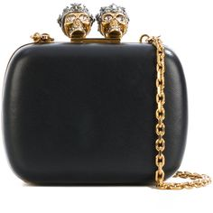 e3e710273 Alexander McQueen queen and king skeleton box clutch (7.900 RON) ❤ liked on  Polyvore