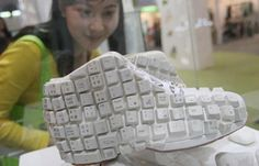 shoes: recycled keyboard keys