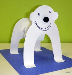 Polor Bear standing by Tippytoe Crafts