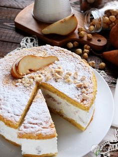 Come fare la torta ricotta e pere Italian Desserts, Italian Recipes, Tortilla Sana, Ricotta Cake, Pear Cake, High Tea, Cupcake Cakes, Cake Recipes, Cheesecake