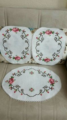 Takım Hardanger Embroidery, Embroidery Art, Cross Stitch Embroidery, Embroidery Patterns, Embroidery Fashion, Yarn Shop, Easy Crochet Patterns, Crafts To Do, Vintage Patterns